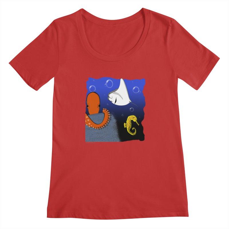 Sea Life Women's Regular Scoop Neck by Every Drop's An Idea's Artist Shop