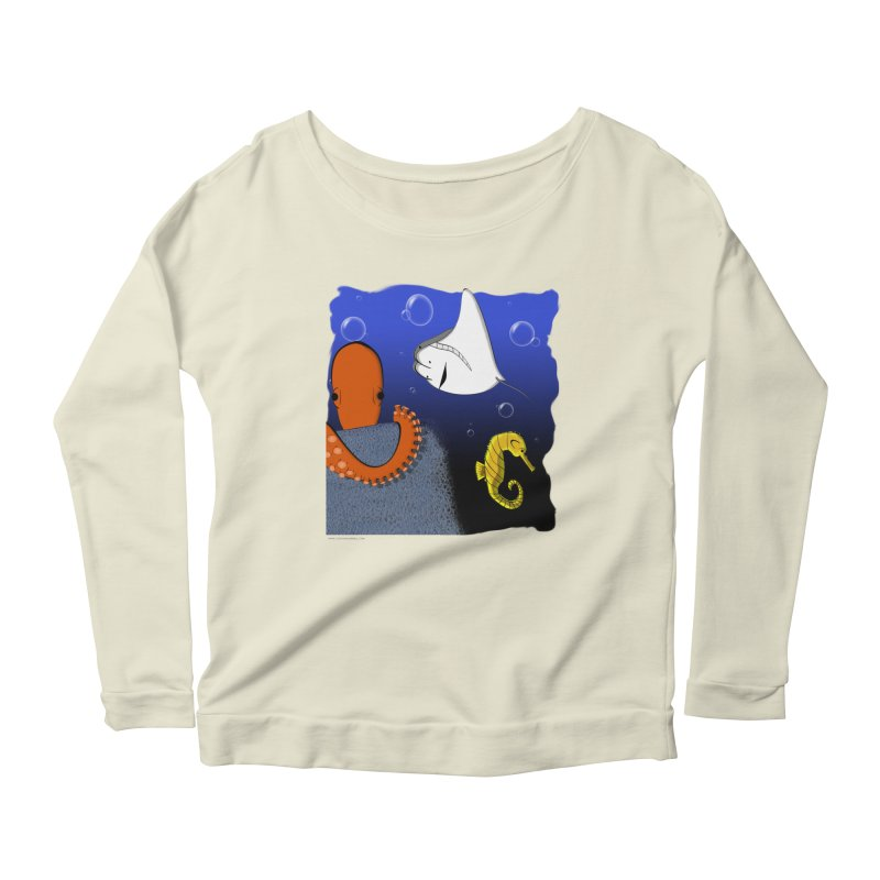 Sea Life Women's Scoop Neck Longsleeve T-Shirt by Every Drop's An Idea's Artist Shop