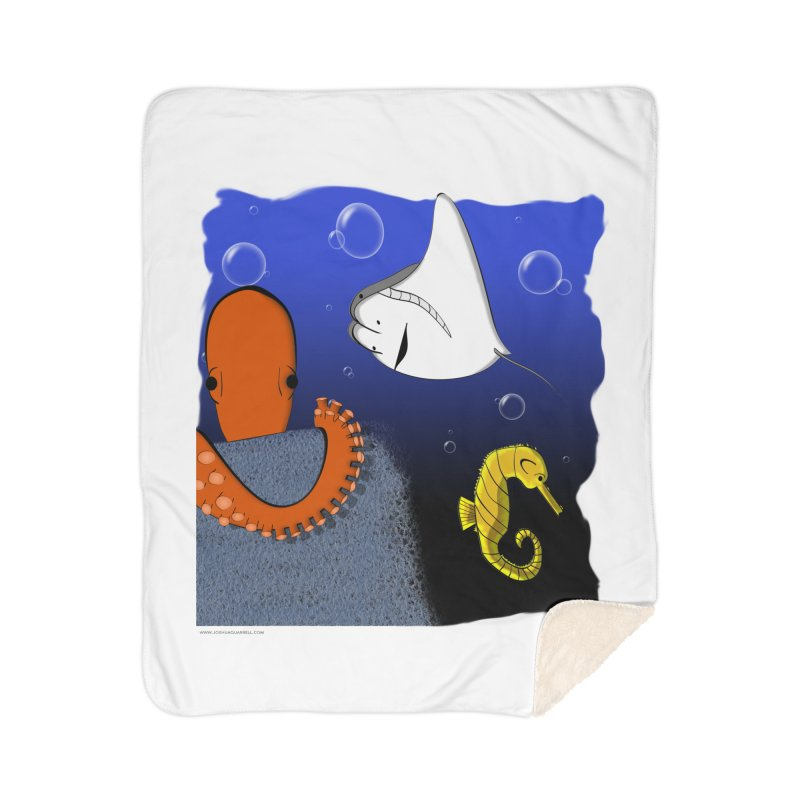 Sea Life Home Sherpa Blanket Blanket by Every Drop's An Idea's Artist Shop