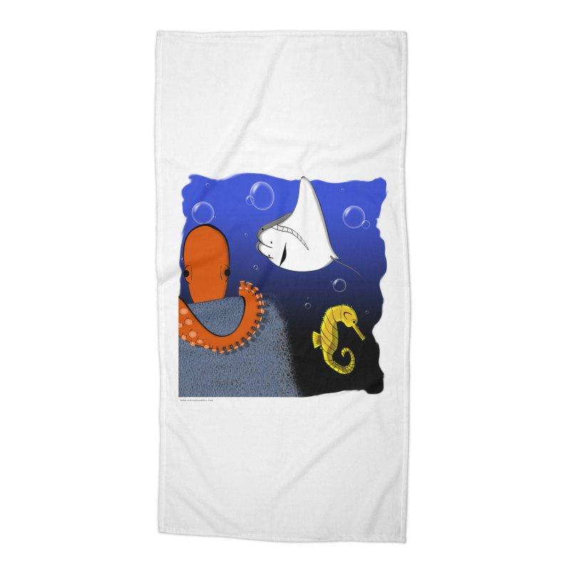 Sea Life Accessories Beach Towel by Every Drop's An Idea's Artist Shop