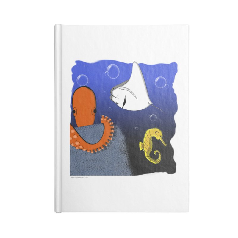 Sea Life Accessories Lined Journal Notebook by Every Drop's An Idea's Artist Shop