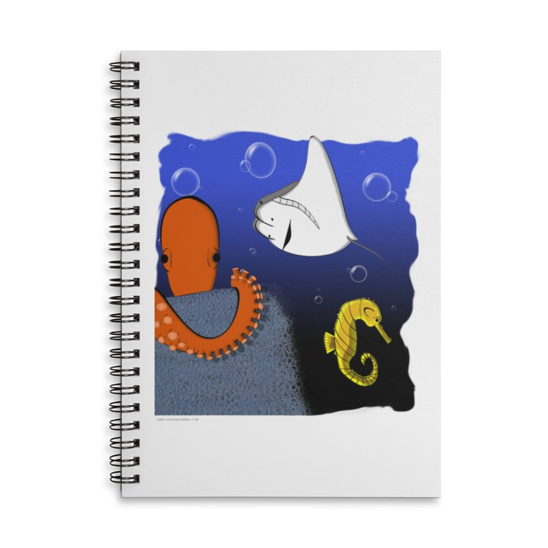 Sea Life Accessories Lined Spiral Notebook by Every Drop's An Idea's Artist Shop
