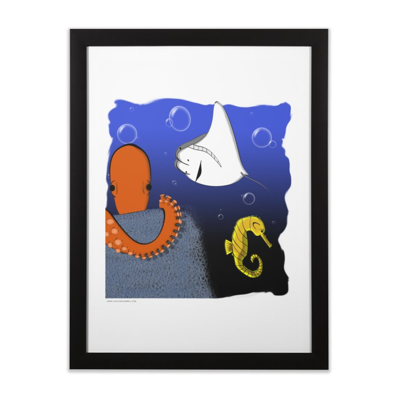 Sea Life Home Framed Fine Art Print by Every Drop's An Idea's Artist Shop