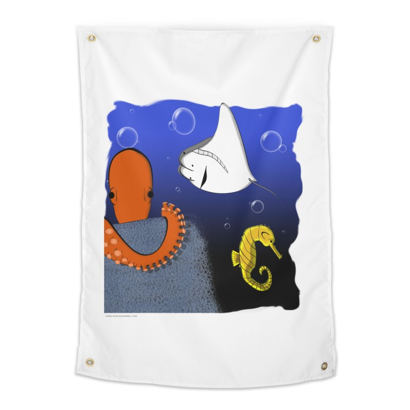 Sea Life Home Tapestry by Every Drop's An Idea's Artist Shop
