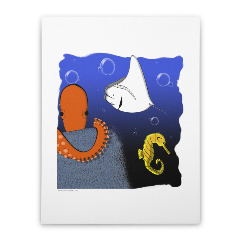 Sea Life Home Stretched Canvas by Every Drop's An Idea's Artist Shop