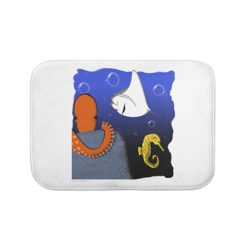 Sea Life Home Bath Mat by Every Drop's An Idea's Artist Shop
