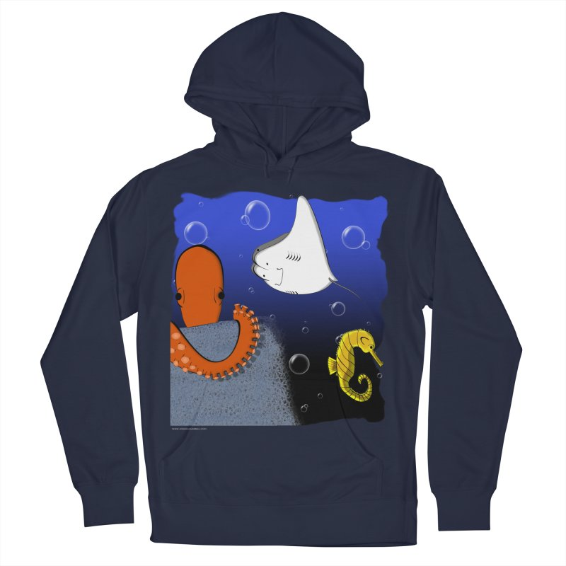 Sea Life Women's French Terry Pullover Hoody by Every Drop's An Idea's Artist Shop