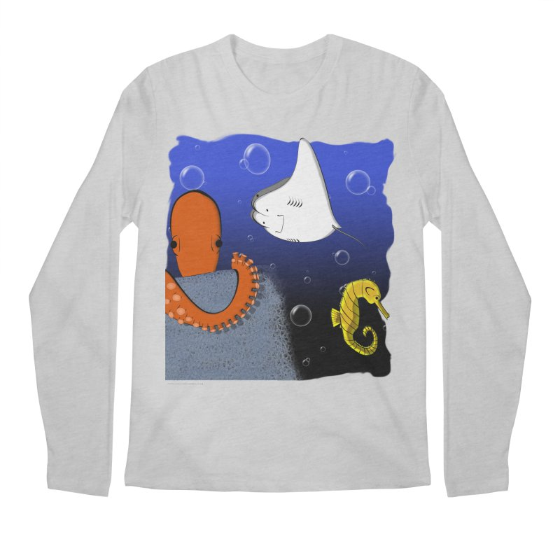 Sea Life Men's Regular Longsleeve T-Shirt by Every Drop's An Idea's Artist Shop