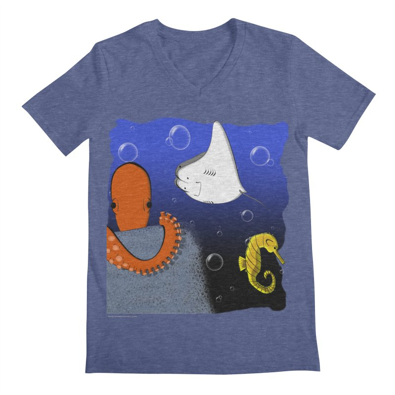 Sea Life Men's V-Neck by Every Drop's An Idea's Artist Shop