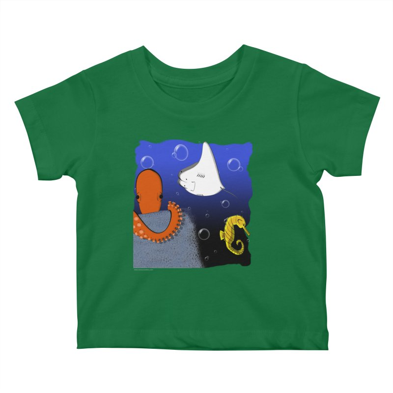 Sea Life Kids Baby T-Shirt by Every Drop's An Idea's Artist Shop