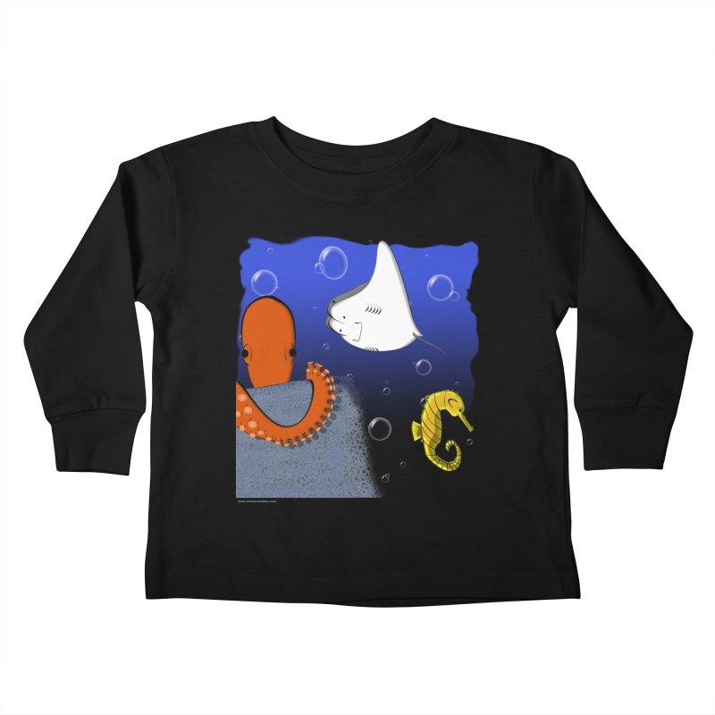 Sea Life Kids Toddler Longsleeve T-Shirt by Every Drop's An Idea's Artist Shop
