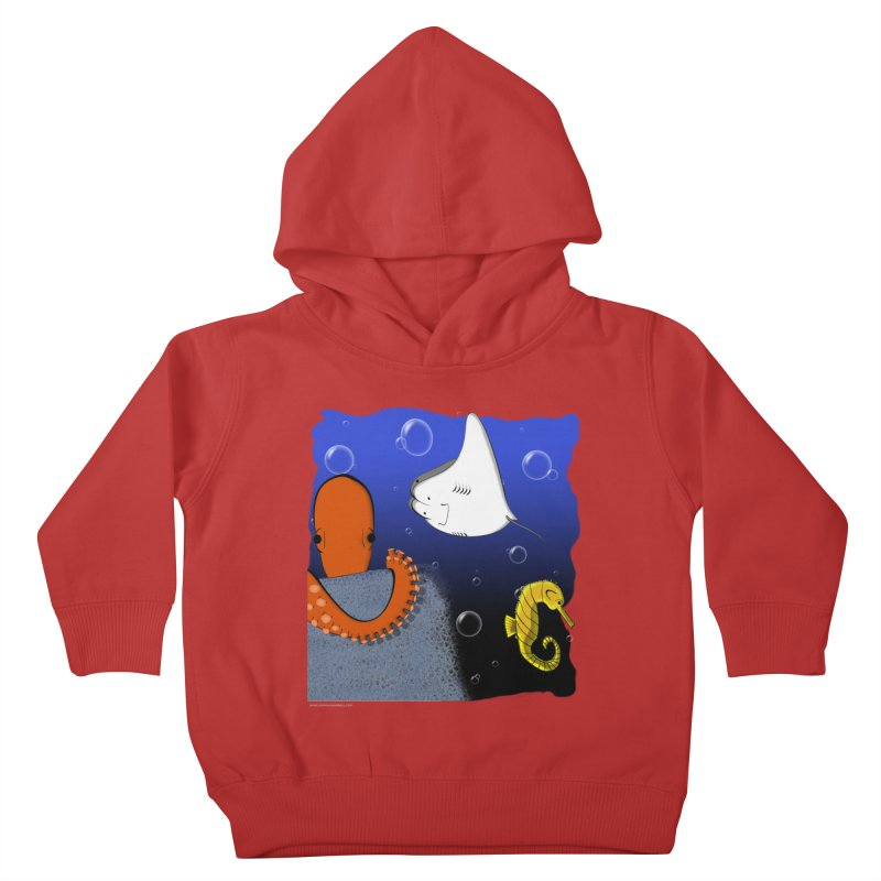 Sea Life Kids Toddler Pullover Hoody by Every Drop's An Idea's Artist Shop