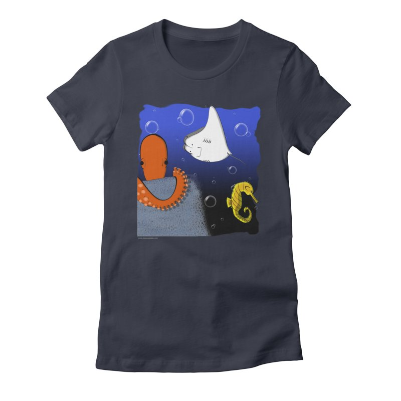 Sea Life Women's Fitted T-Shirt by Every Drop's An Idea's Artist Shop