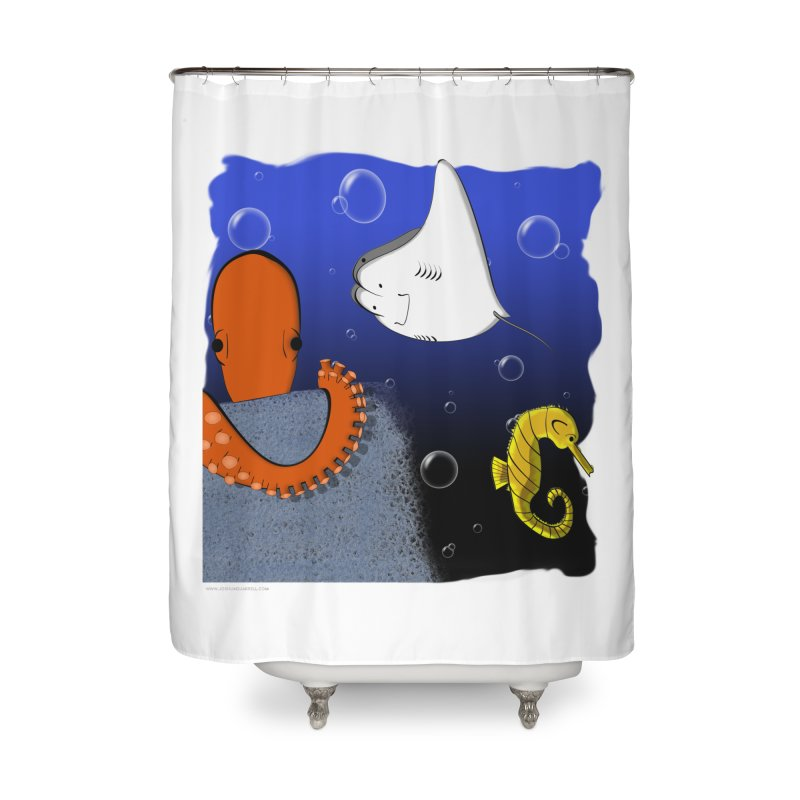 Sea Life Home Shower Curtain by Every Drop's An Idea's Artist Shop