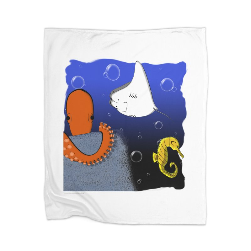 Sea Life Home Blanket by Every Drop's An Idea's Artist Shop