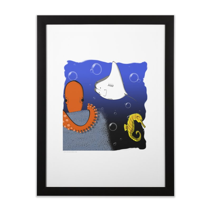 Sea Life Home Framed Fine Art Print by Every Drop's An Idea's Artist Shop