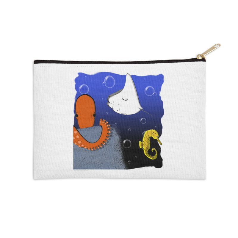 Sea Life Accessories Zip Pouch by Every Drop's An Idea's Artist Shop