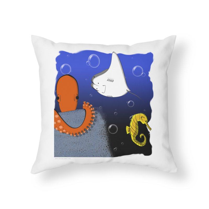 Sea Life Home Throw Pillow by Every Drop's An Idea's Artist Shop