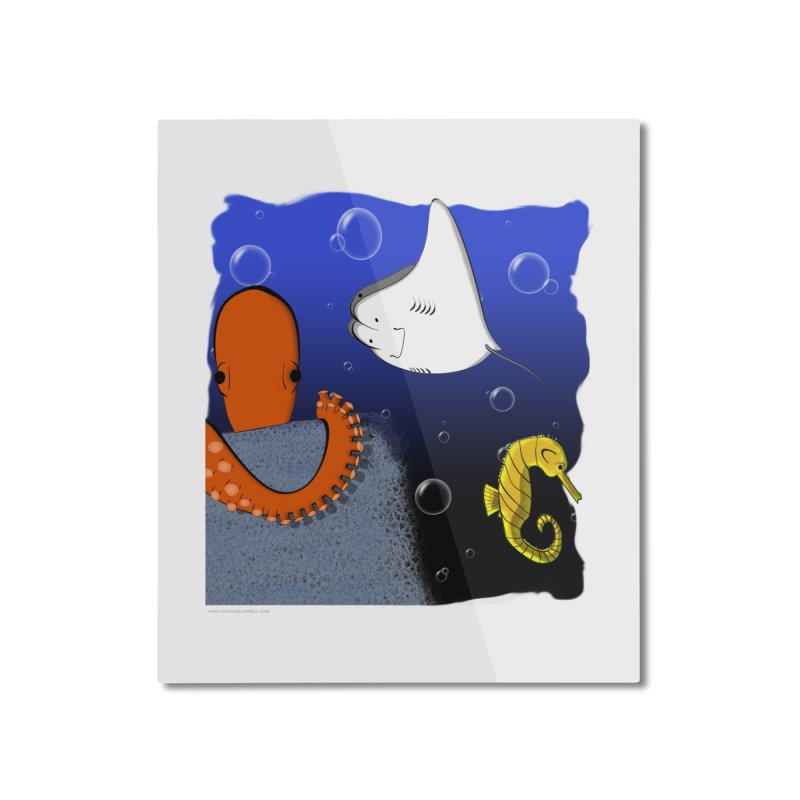 Sea Life Home Mounted Aluminum Print by Every Drop's An Idea's Artist Shop
