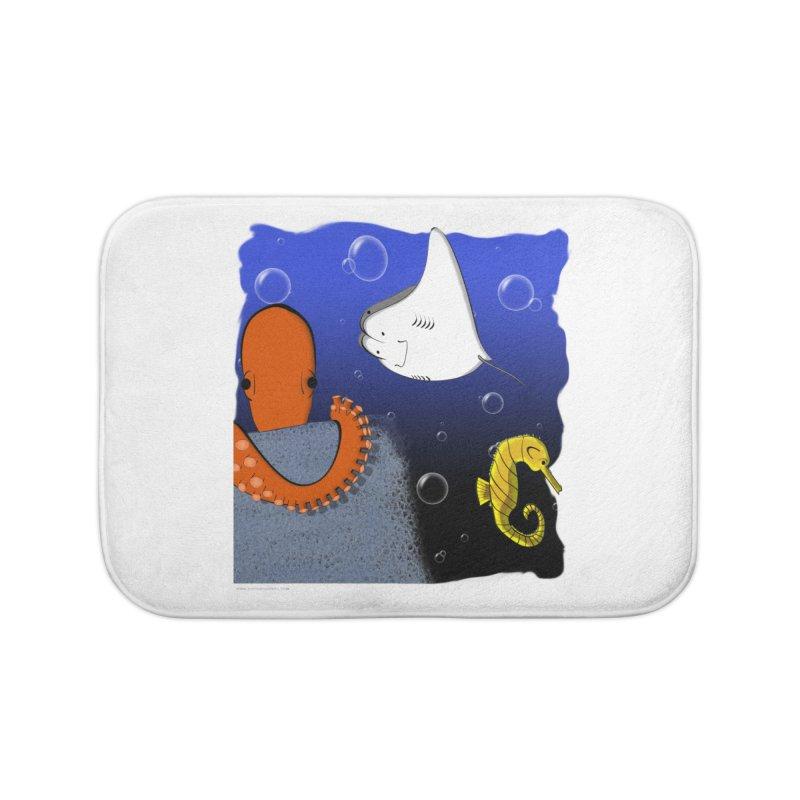 Sea Life Home Bath Mat by Every Drop's An Idea's Artist Shop