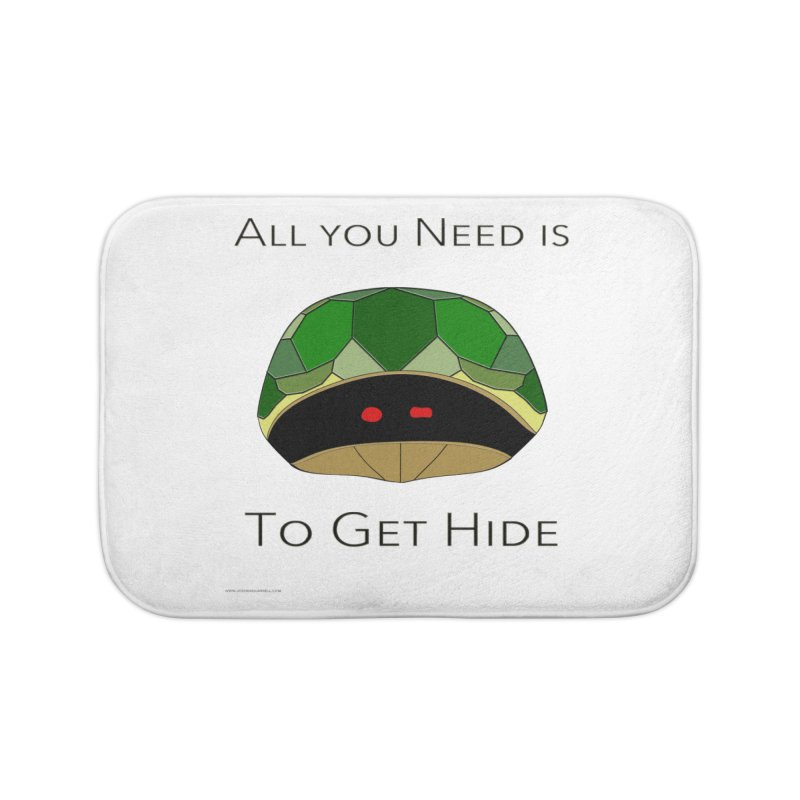 All You Need Is To Get Hide Home Bath Mat by Every Drop's An Idea's Artist Shop
