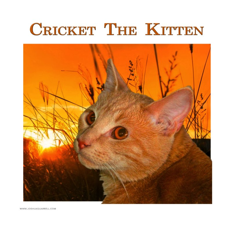 Cricket The Kitten Home Stretched Canvas by Every Drop's An Idea's Artist Shop