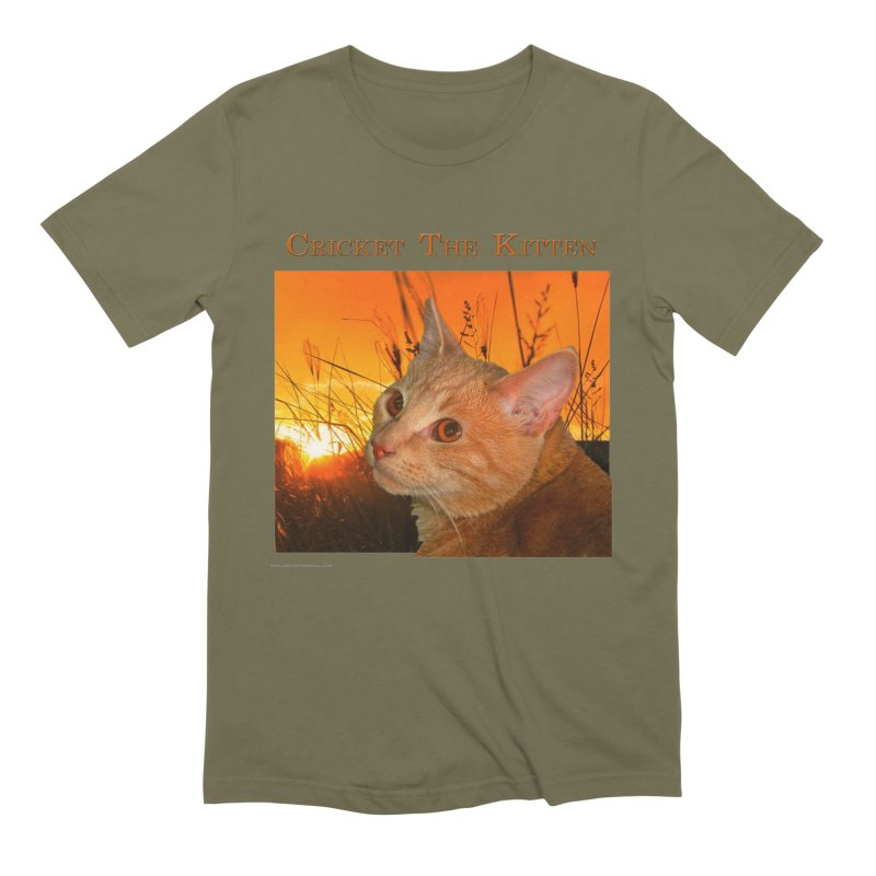 Cricket The Kitten Men's T-Shirt by Every Drop's An Idea's Artist Shop