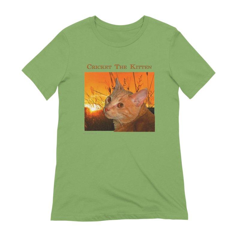 Cricket The Kitten Women's Extra Soft T-Shirt by Every Drop's An Idea's Artist Shop