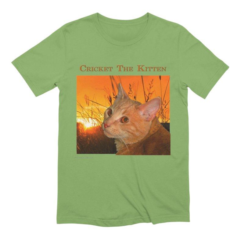 Cricket The Kitten Men's Extra Soft T-Shirt by Every Drop's An Idea's Artist Shop