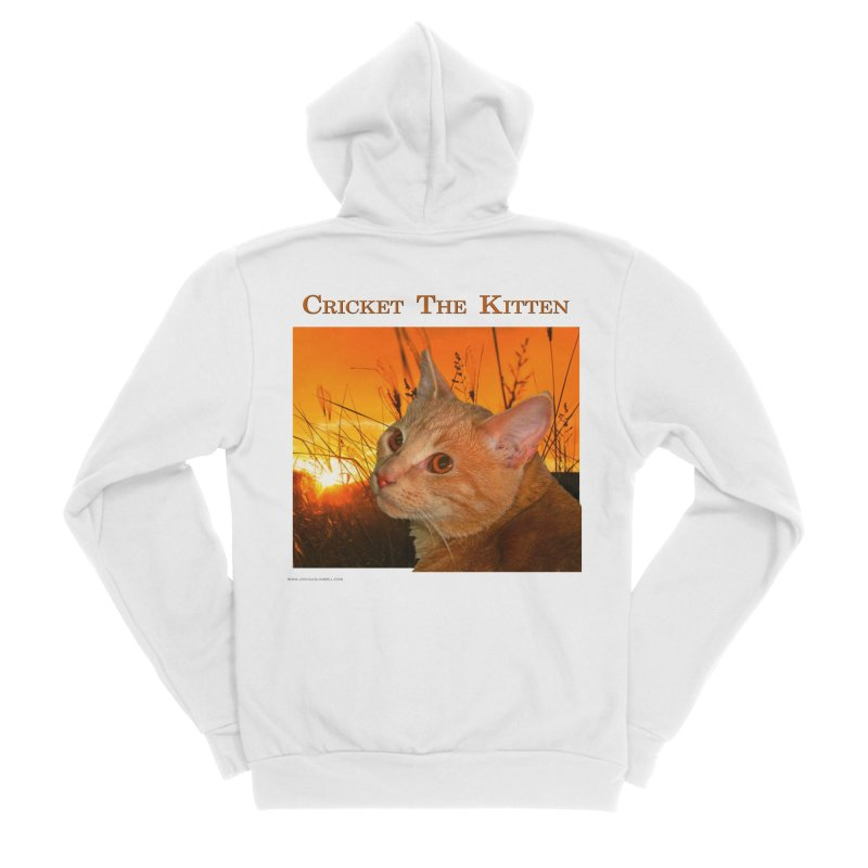 Cricket The Kitten Men's Sponge Fleece Zip-Up Hoody by Every Drop's An Idea's Artist Shop