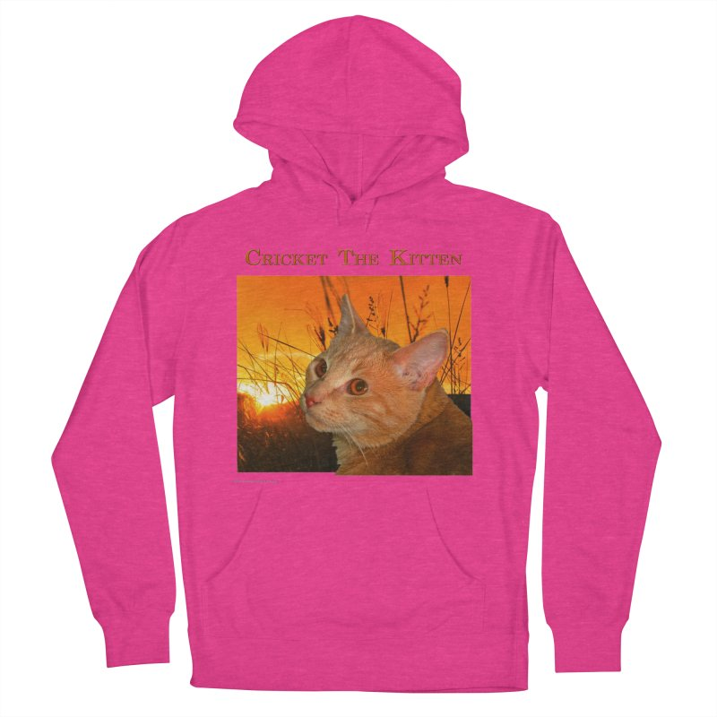 Cricket The Kitten Women's French Terry Pullover Hoody by Every Drop's An Idea's Artist Shop