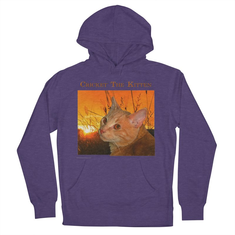 Cricket The Kitten Men's French Terry Pullover Hoody by Every Drop's An Idea's Artist Shop