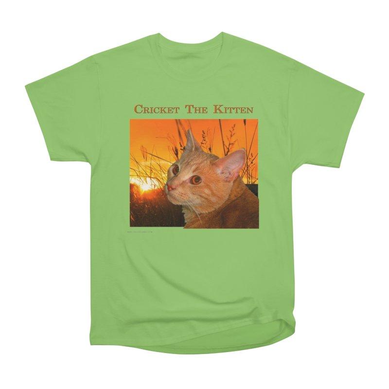 Cricket The Kitten Women's Heavyweight Unisex T-Shirt by Every Drop's An Idea's Artist Shop