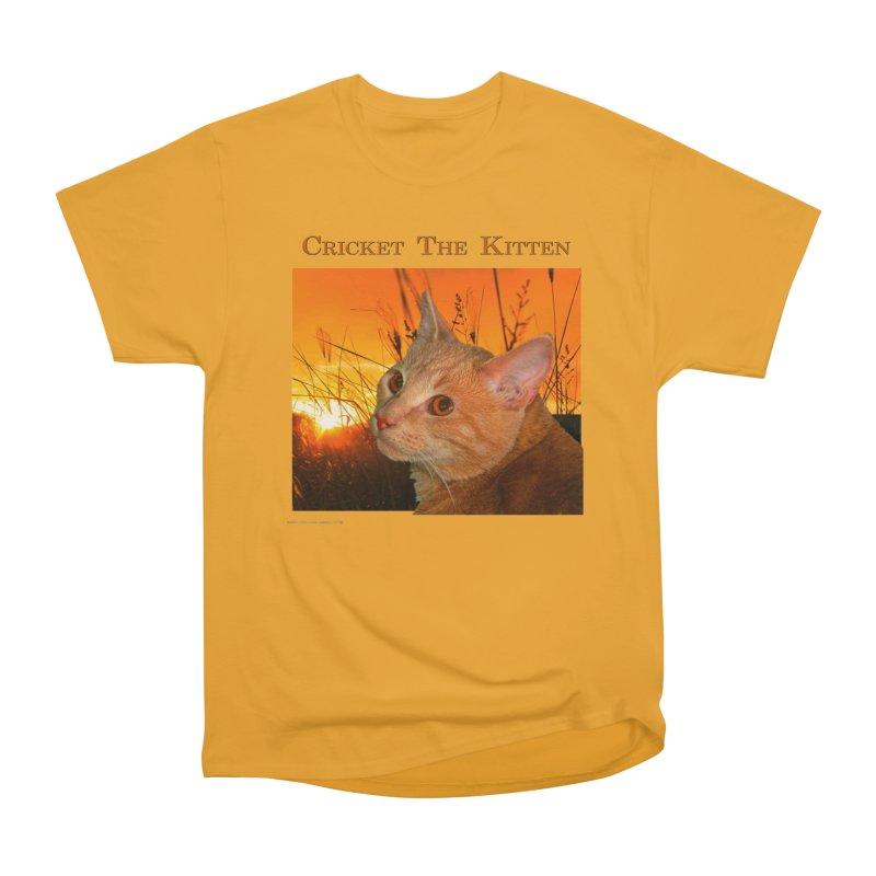 Cricket The Kitten Men's Heavyweight T-Shirt by Every Drop's An Idea's Artist Shop