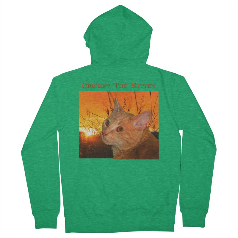 Cricket The Kitten Men's Zip-Up Hoody by Every Drop's An Idea's Artist Shop