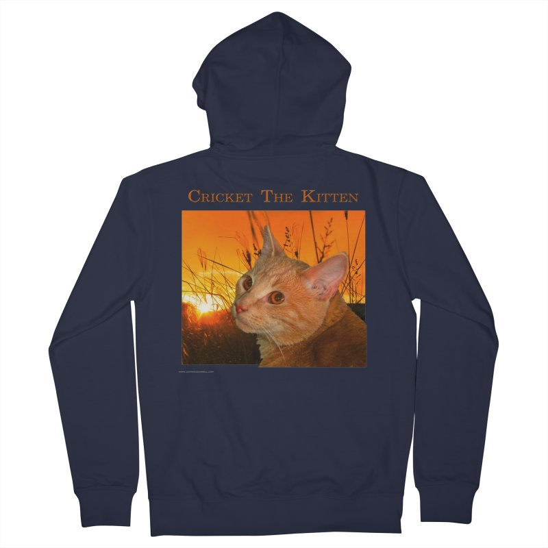 Cricket The Kitten Men's French Terry Zip-Up Hoody by Every Drop's An Idea's Artist Shop