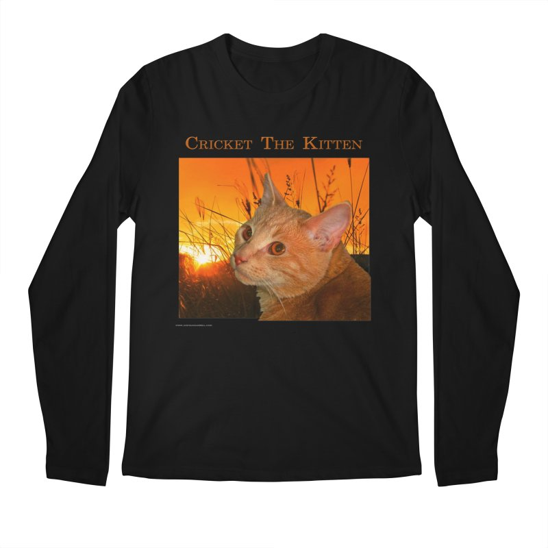 Cricket The Kitten Men's Regular Longsleeve T-Shirt by Every Drop's An Idea's Artist Shop