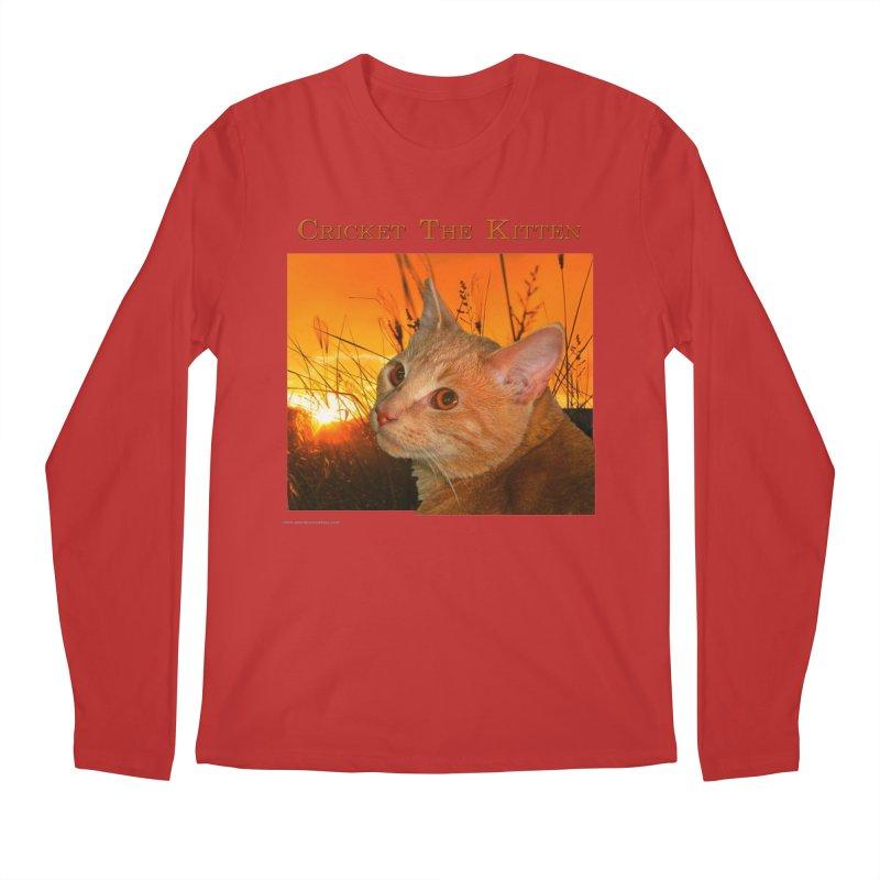 Cricket The Kitten Men's Regular Longsleeve T-Shirt by Every Drop's An Idea's Artist Shop
