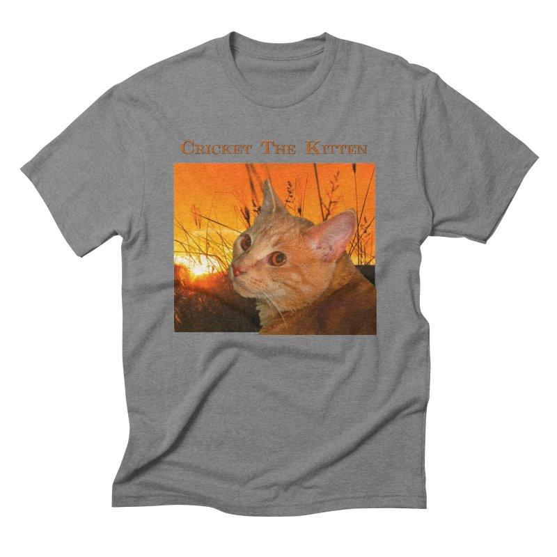 Cricket The Kitten Men's Triblend T-Shirt by Every Drop's An Idea's Artist Shop