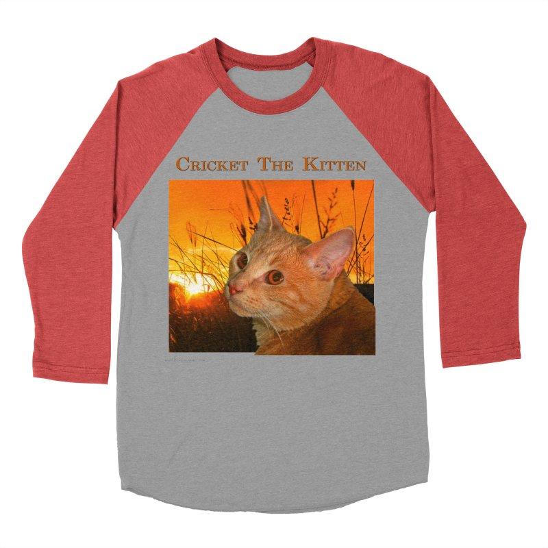 Cricket The Kitten Women's Baseball Triblend Longsleeve T-Shirt by Every Drop's An Idea's Artist Shop