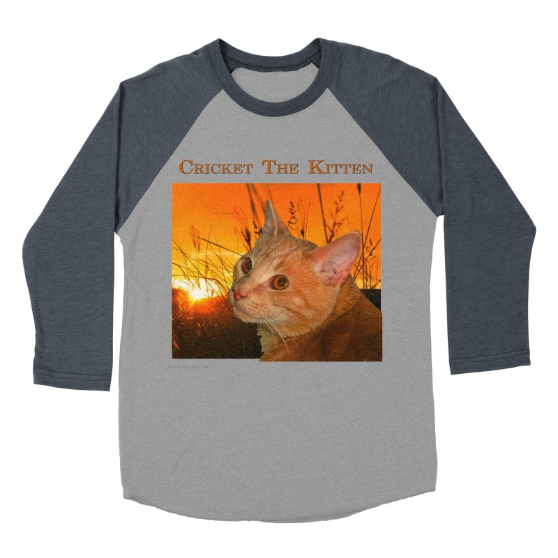Cricket The Kitten Women's Baseball Triblend Longsleeve T-Shirt by Every Drop's An Idea's Artist Shop