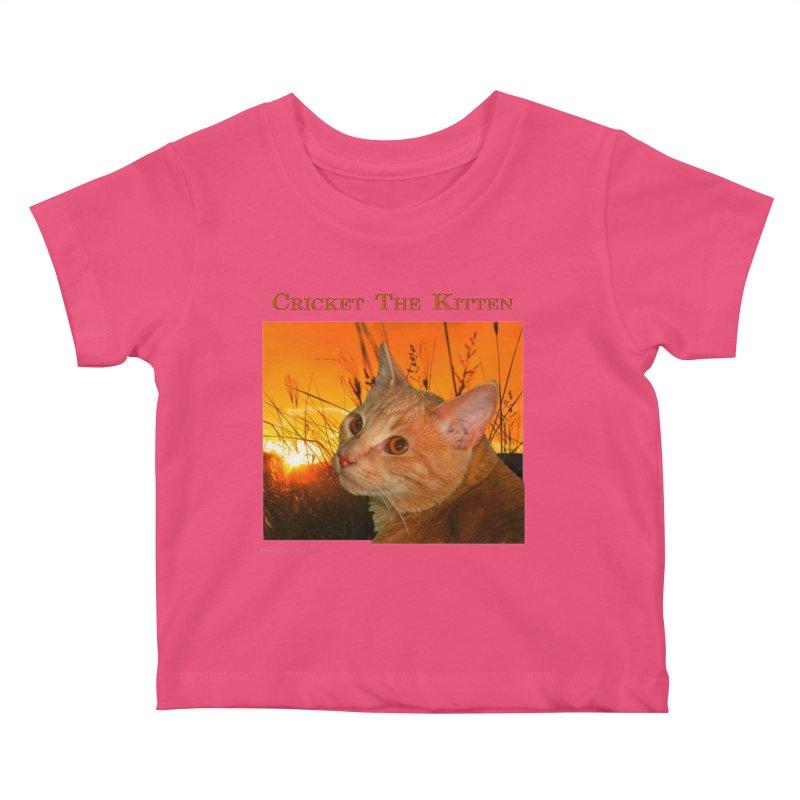 Cricket The Kitten Kids Baby T-Shirt by Every Drop's An Idea's Artist Shop
