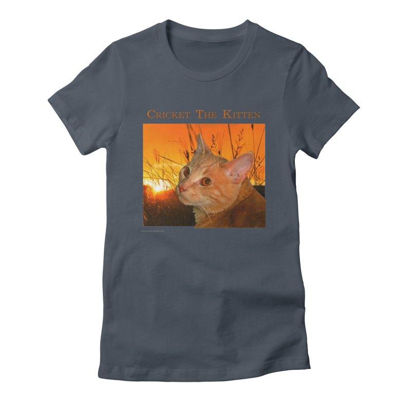 Cricket The Kitten Feminie T-Shirt by Every Drop's An Idea's Artist Shop