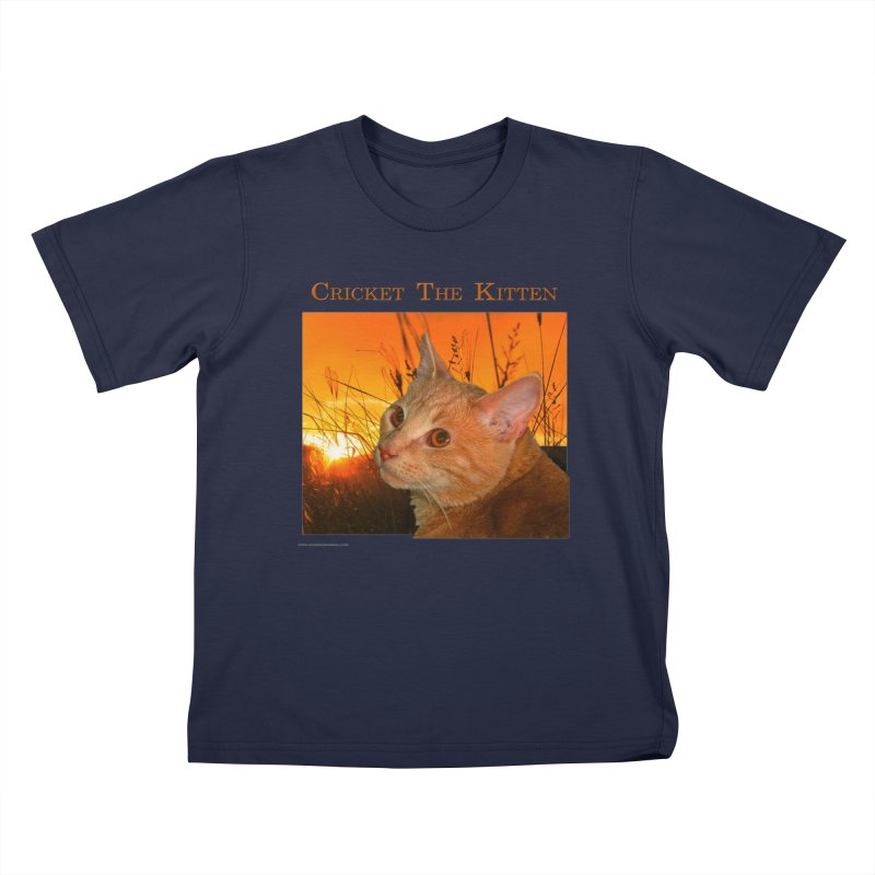 Cricket The Kitten Youth T-Shirt by Every Drop's An Idea's Artist Shop