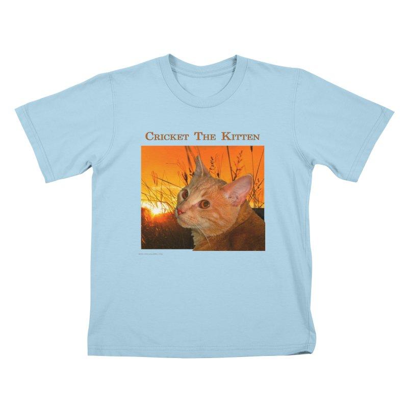 Cricket The Kitten Kids T-Shirt by Every Drop's An Idea's Artist Shop
