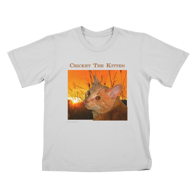 Cricket The Kitten Kids T-Shirt by Every Drop's An Idea's Artist Shop