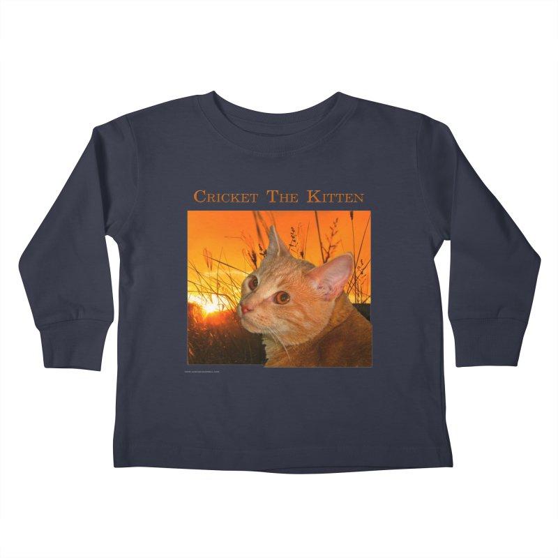 Cricket The Kitten Kids Toddler Longsleeve T-Shirt by Every Drop's An Idea's Artist Shop