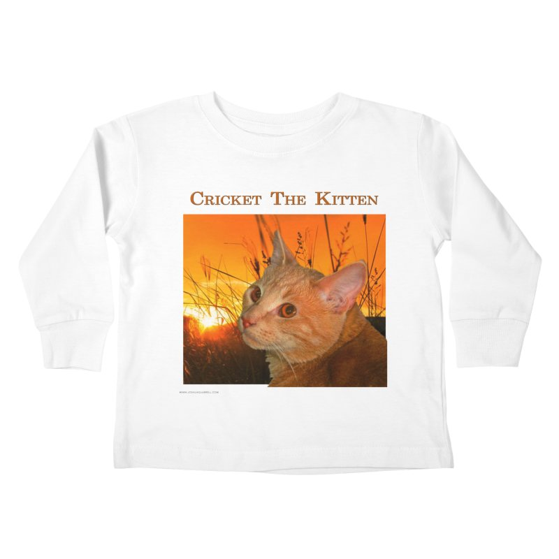 Cricket The Kitten Kids Toddler Longsleeve T-Shirt by Every Drop's An Idea's Artist Shop