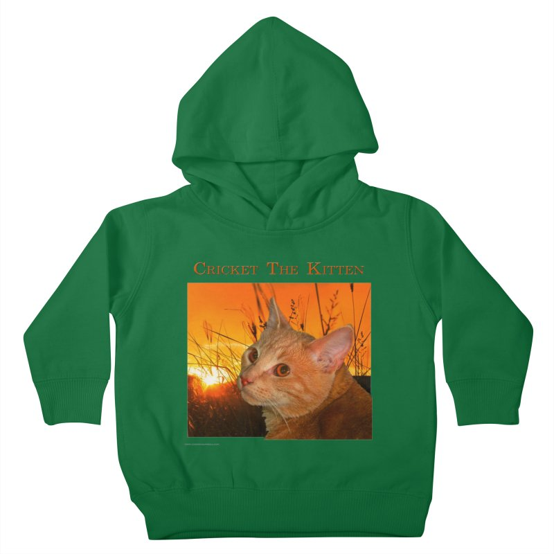 Cricket The Kitten Kids Toddler Pullover Hoody by Every Drop's An Idea's Artist Shop