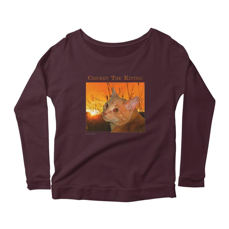 Cricket The Kitten Women's Scoop Neck Longsleeve T-Shirt by Every Drop's An Idea's Artist Shop